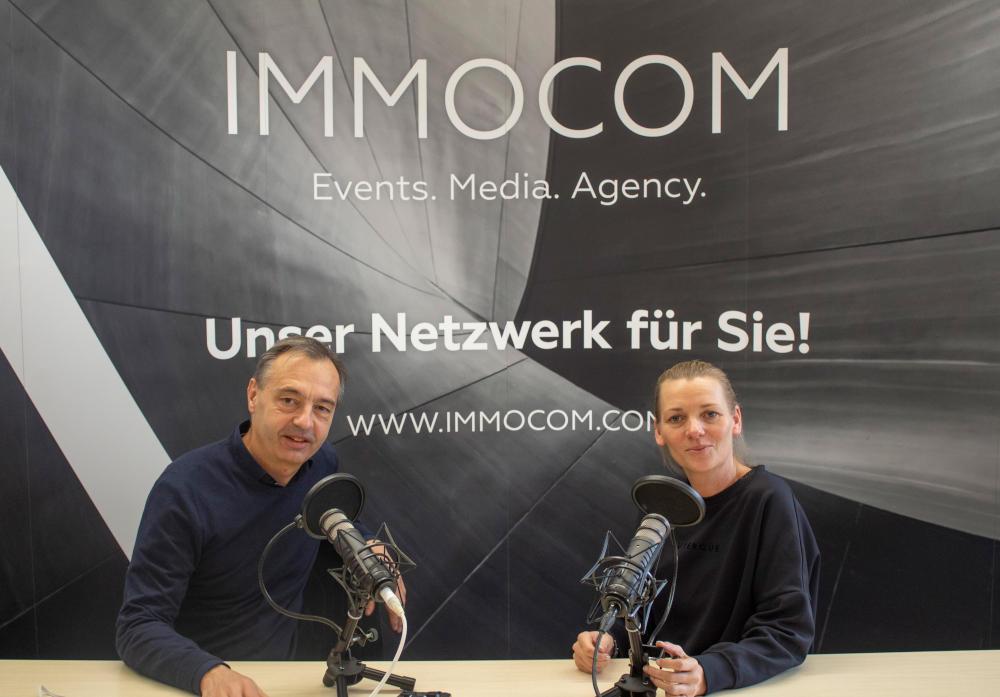 Die Immobiléros Hosts Michael Rücker und Ivette Wagner