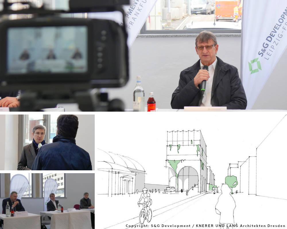 IMMOCOM Pressekonferenz zu Fernbusterminal von SG Development