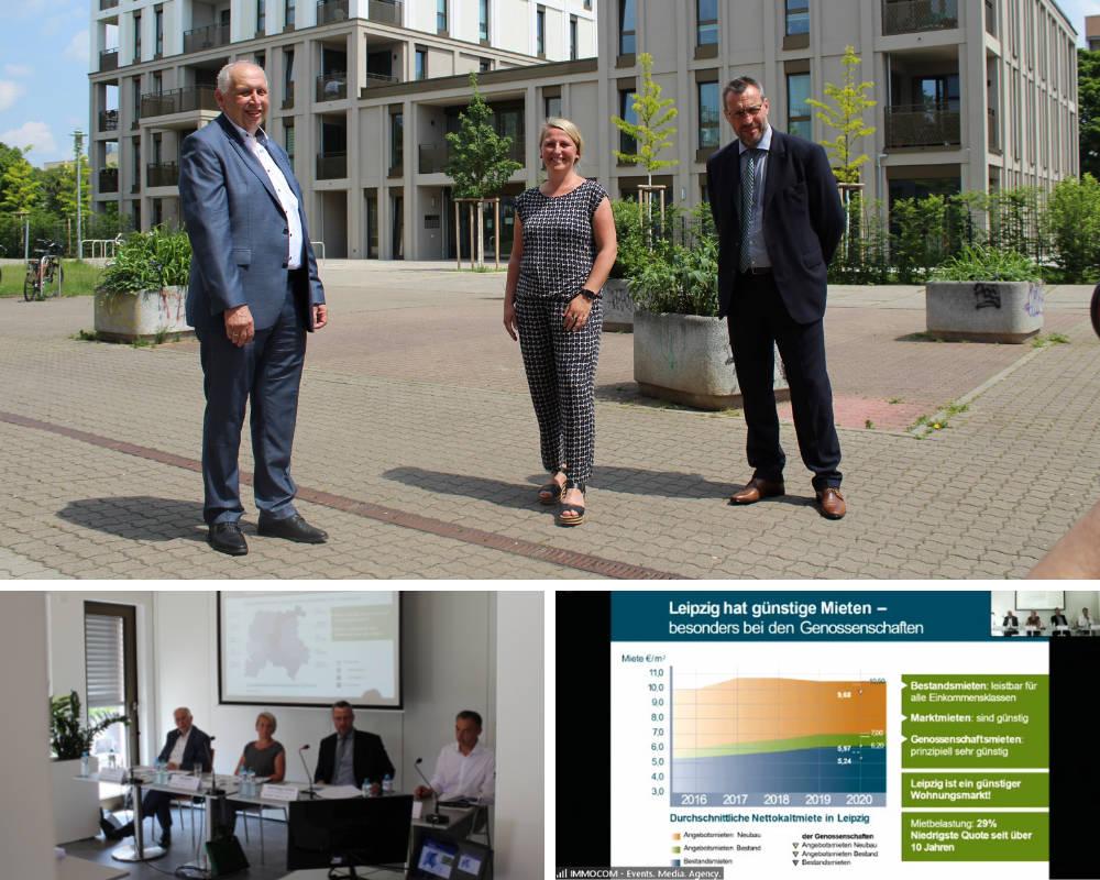 Immocom Pressekonferenz Leipziger Wohnungsgenossenschaften