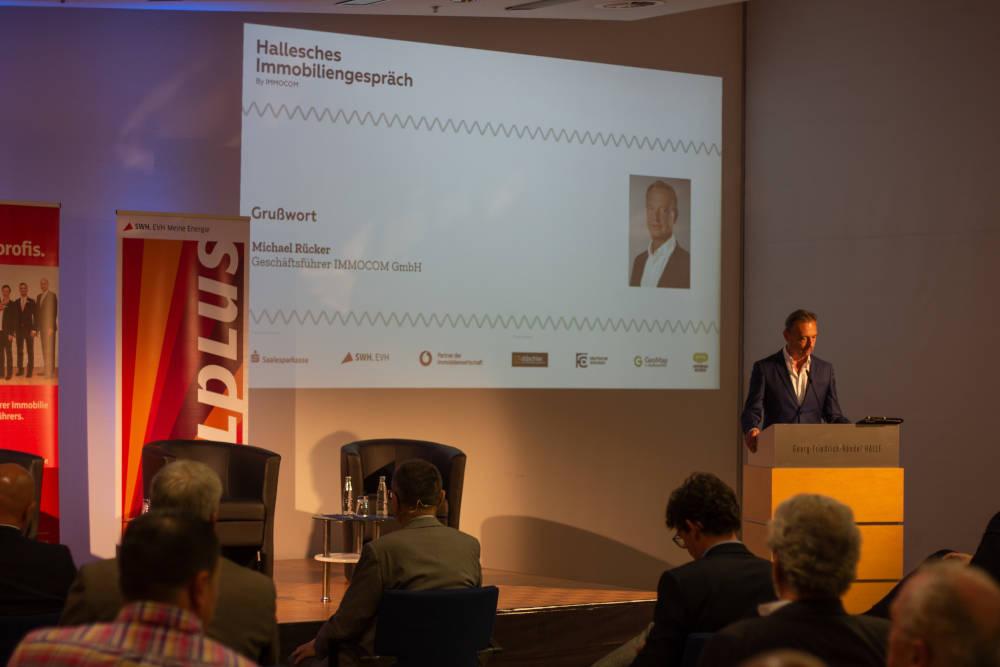 Hallesches Immobiliengespräch IMMOCOM-Chef Michael Rücker