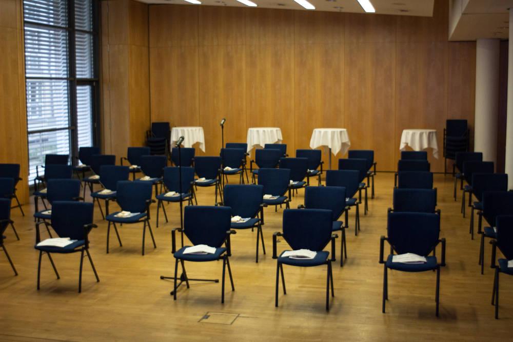 Hallesches Immobiliengespräch 2021 Bestuhlung vor Event