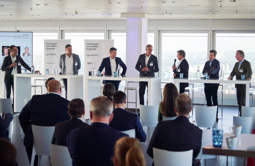 Auftaktpanel vom Hamburger Immobilienkongress 2021