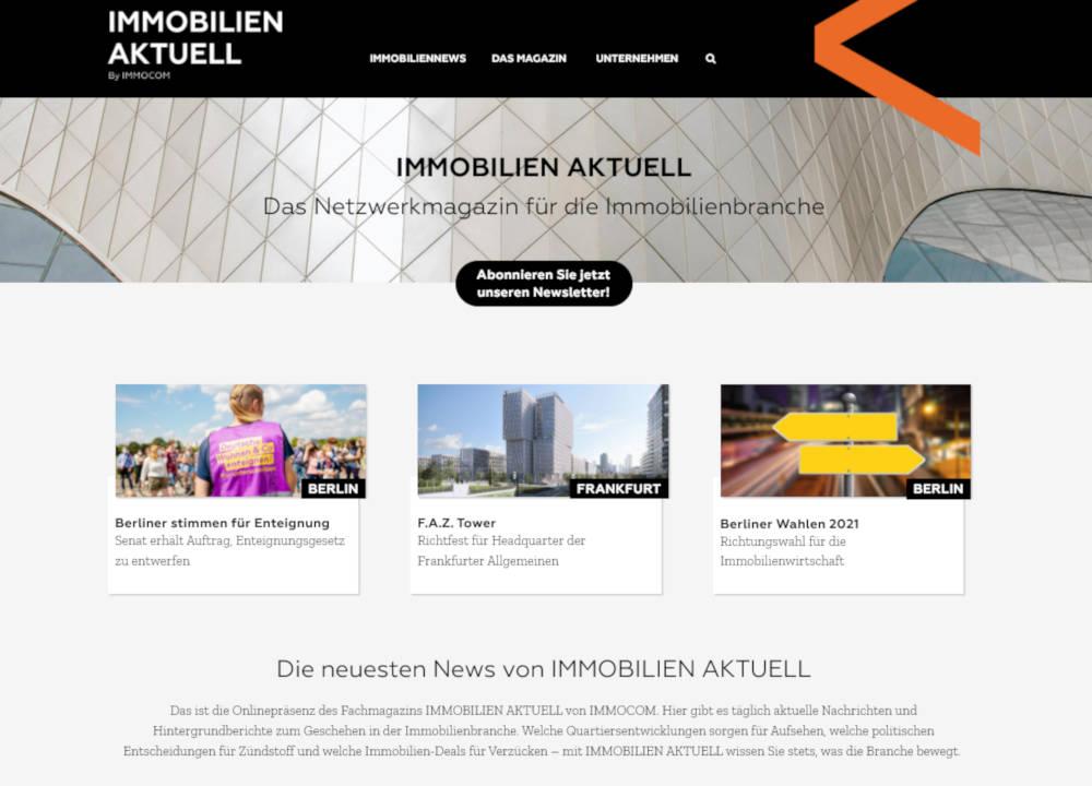 Immobilien Aktuell digital Website